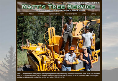 Matt's Tree Service Website